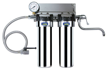 Double stainless steel water filter EWC-J-S