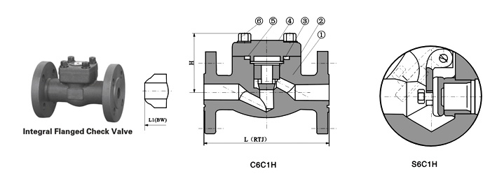 Class 150~1500 Forged Steel Flanged End Check Valve