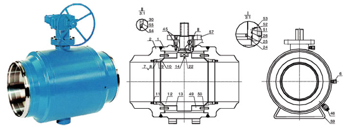 Class 900~1500 Full Welded Forged Steel Ball Valve